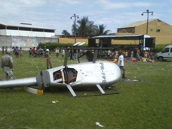 Упавший вертолет. Фото O Globo