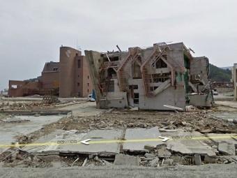 Последствия мартовского землетрясения в Японии. Изображение с сайта maps.google.com