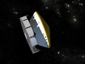 Компьютерная модель космического аппарата с MSL на борту. Иллюстрация NASA