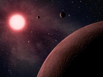 Планетарная система KOI-961 глазами художника. Иллюстрация NASA/JPL-Caltech