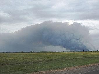 Пожар в Урмане. Фото с сайта udm.ru