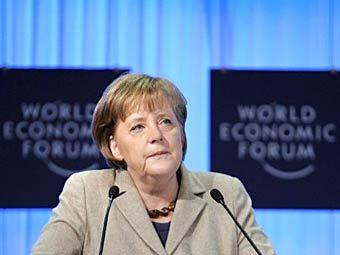 Ангела Меркель на экономическом форуме в Давосе, 2011 год. Архивное фото ©AFP