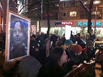 Шествие антифашистов по Тверскому бульвару. Фото @aleshru