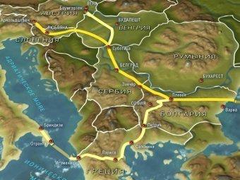 """Схема """"Южного потока"""" с сайта south-stream.info"""