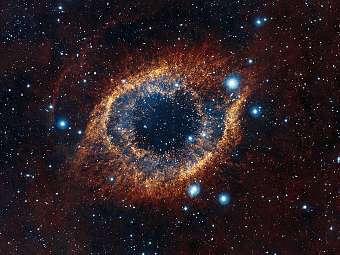 Туманность Улитка. Фото ESO/VISTA/J. Emerso