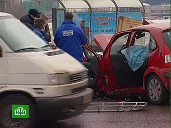 ДТП на Ленинском проспекте. Кадр телеканала НТВ