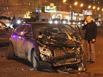 Фото Никиты Козлова с места аварии