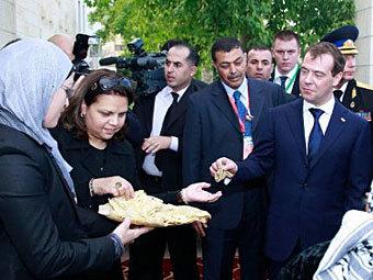 Дмитрий Медведев в Иерихоне, 2011 год. Фото ©AFP