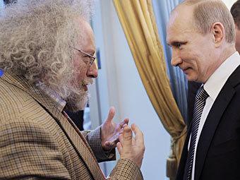 Алексей Венедиктов и Владимир Путин. Фото РИА Новости, Яна Лапикова