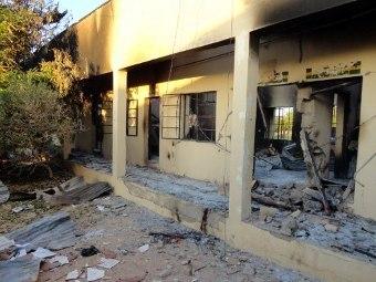 Последствия взрыва на полицейском участке в Нигерии. Фото ©AFP