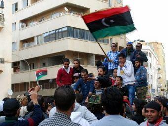 Акция протеста против НПС Ливии. Фото ©AFP
