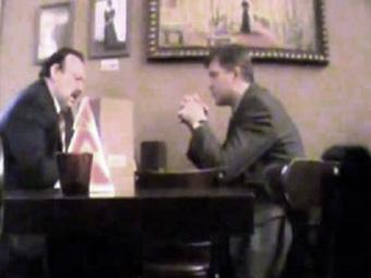 Кадр видеозаписи переговоров Геннадия Гудкова и Владимира Рыжкова