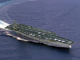 """Авианосец ВМС США """"Джеральд Форд"""". Фото с сайта navy.mil"""