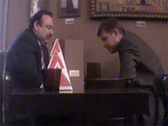 Геннадий Гудков и Владимир Рыжков. Скриншот с сайта YouTube