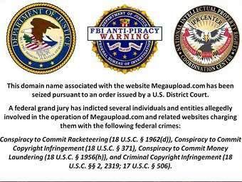 Изображение, размещенное на сайте megaupload.com после его закрытия