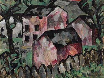 """""""Пейзаж с красными домами"""" Казимира Малевича, хранившийся в музее в Базеле"""