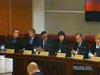 Кадр видеотрансляции заседания ЦИК РФ