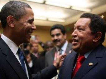 Барак Обама и Уго Чавес в 2009 году. Фото ©AFP