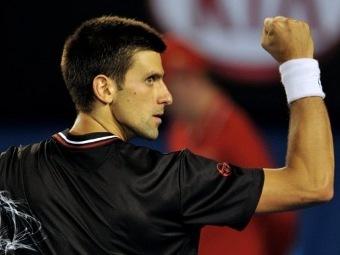 Новак Джокович в матче с Надалем. Фото ©AFP