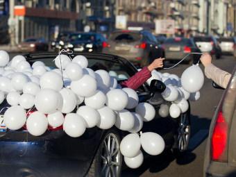Участники автопробега по Садовому. Фото Рустема Адагамова