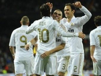 "Игроки ""Реала"" празднуют гол в матче с ""Сарагосой"". Фото ©AFP"