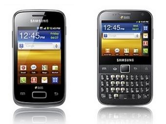 Galaxy Y Duos (слева) и Galaxy Y Pro Duos