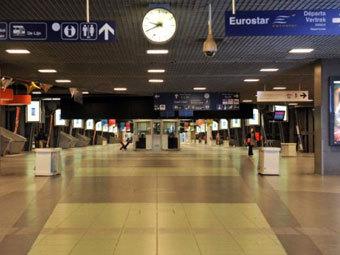 Опустевший вокзал в Бельгии. Фото ©AFP