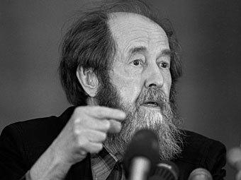 Александр Солженицын. Фото Александра Натрускина из архива РИА Новости