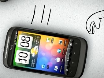 Кадр из рекламного ролика HTC Desire S