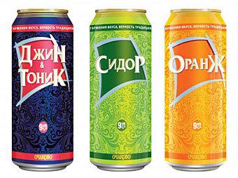 """Компания  """"Очаково """" провела ребрендинг Слабоалкогольных коктейлей."""