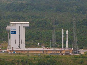 """""""Вега"""" на стартовой площадке. Фото ESA"""