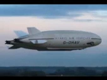Дирижабль. Кадр из видео на сайте bfbs.com