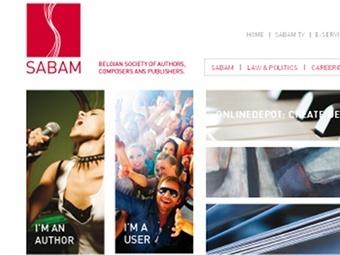 Скриншот сайта sabam.be