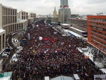 Митинг на проспекте Сахарова в Москве. Фото из блога Ильи zyalt Варламова