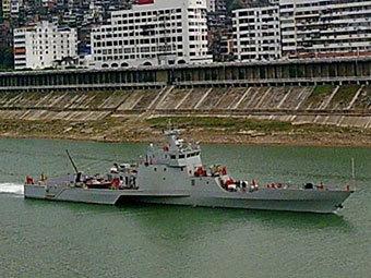 Китайский тримаран. Фото с сайта wzljl.cn