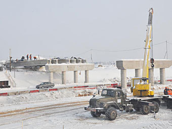 """Строительство развязки на трессе """"Беларусь"""". Фото с сайта admin-smolensk.ru"""