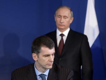 Михаил Прохоров и Владимир Путин. Фото РИА Новости, Алексей Никольский
