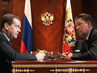 Дмитрий Медведев и Алексей Миллер. Фото РИА Новости, Екатерина Штукина
