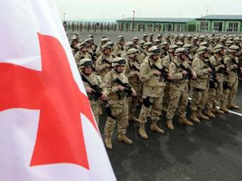 Грузинские военнослужащие перед отправкой в Афганистан. Фото ©AFP