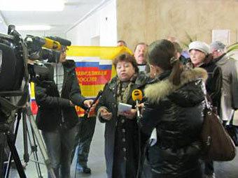 Протестующие в здании городской администрации Лермонтова. Фото с сайта lerm26.ru