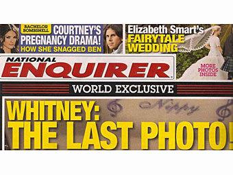 Фрагмент обложки National Enquirer с Уитни Хьюстон