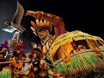 Карнавал в Сан-Паулу. Фото Reuters