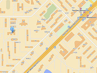 """ОВД по району Проспект Вернадского. Изображение из сервиса """"Яндекс.Карты"""""""