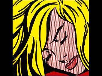 """""""Спящая девушка"""" Роя Лихтенштейна. Фото из каталога Sotheby's"""