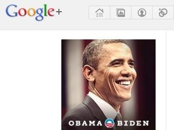 Скриншот страницы Барака Обамы в Google+
