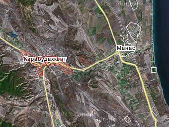 Карабудахкент на карте с сайта Google Maps
