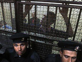Один из обвиняемых правозащитников в суде. Фото ©AFP