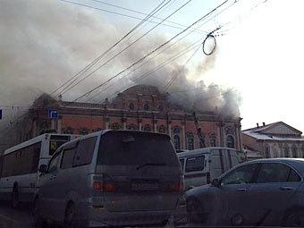 Пожар во дворце Белосельских-Белозерских. Фото @KarineKurganova