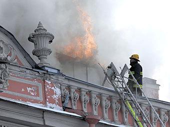 Пожар во дворце Белосельских-Белозерских. Фото РИА Новости, Алексей Даничев