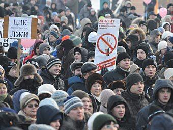 """Митинг """"За честные выборы"""" в Челябинске. Фото РИА Новости, Александр Кондратюк"""